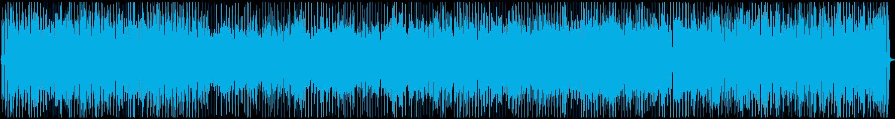 軽快でポップなジャズサウンドの再生済みの波形