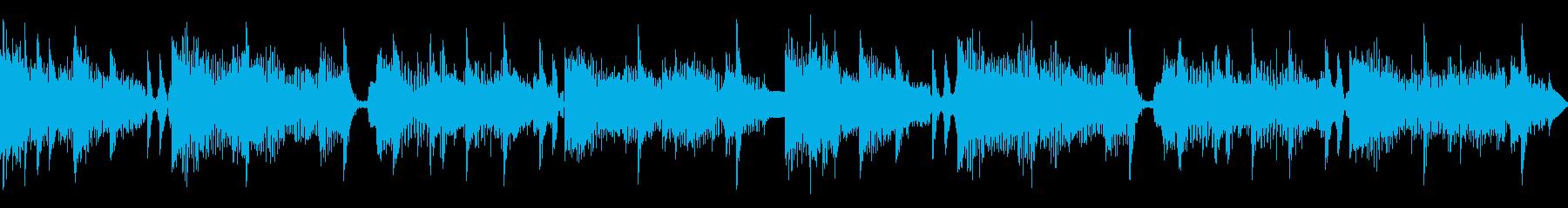 落ち着いた雰囲気のループ仕様楽曲の再生済みの波形