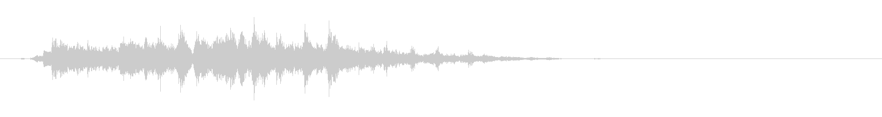 重めの鈴の音「えきろ」の単発音2の未再生の波形