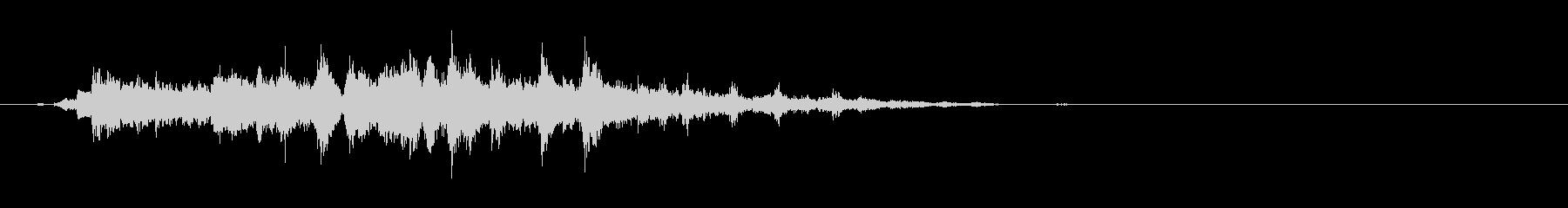 "Single sound 2 of heavy bell sound ""Ekiro""'s unreproduced waveform"