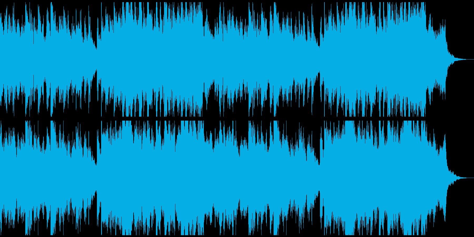 薄気味悪い、何かが起こりそうな音楽の再生済みの波形