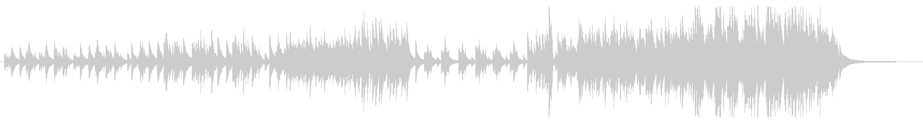 ピアノソロによるバラードの未再生の波形