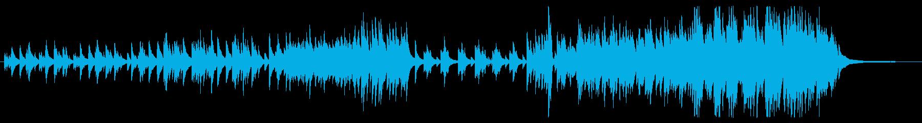 ピアノソロによるバラードの再生済みの波形