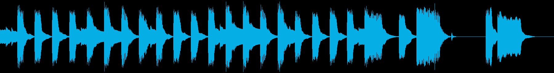 エレピのかわいいBGM(ループ仕様)の再生済みの波形