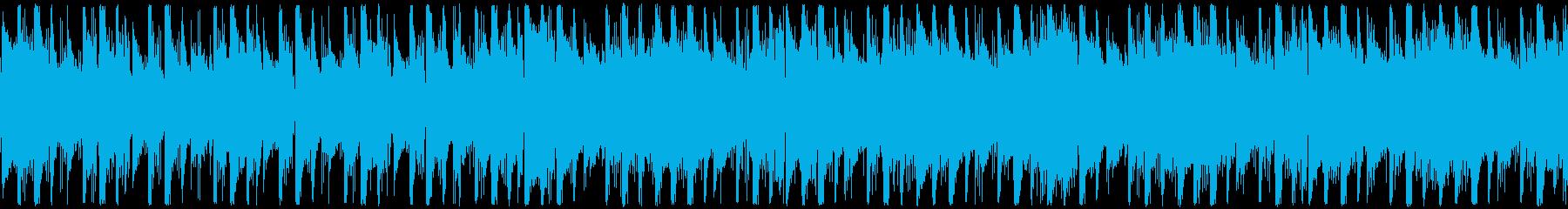 いくつかのシンセリフですぐに開始す...の再生済みの波形