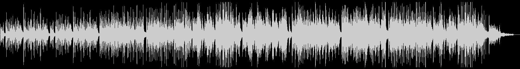 優しく美しいピアノポップスの未再生の波形