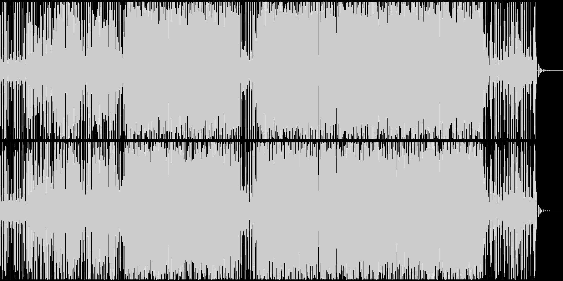 音の高低が大きいテクノサウンドEDMの未再生の波形