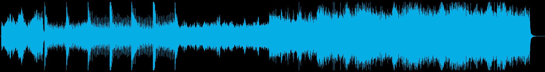 ハリウッド・アクション映画定番スタイルの再生済みの波形