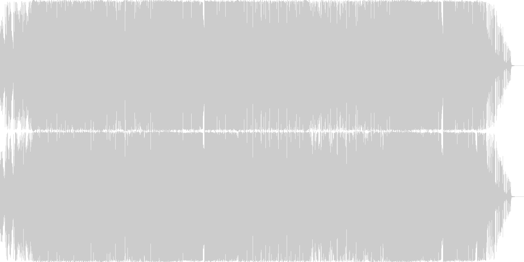 近未来的なテクノポップ調BGMの未再生の波形