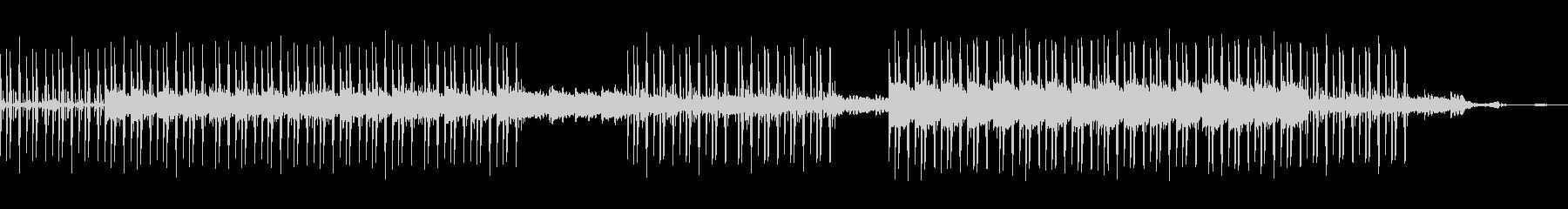 沖縄 海の音とオシャレなLofiビートの未再生の波形