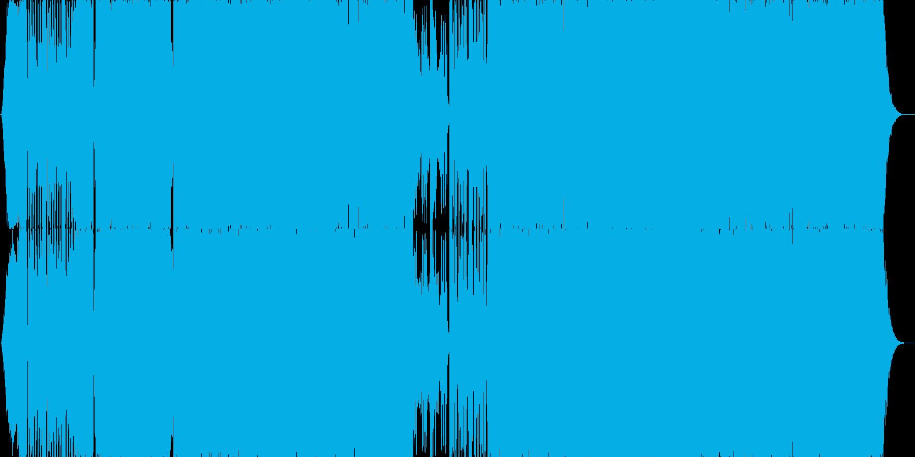 カオス感のあるEDM楽曲の再生済みの波形