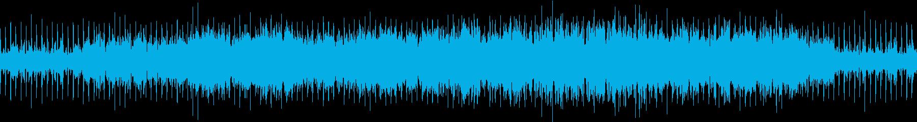 レトロ・パズルゲーム電子系ループBGMの再生済みの波形