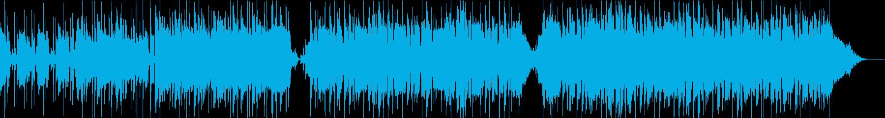 テクノとロックとクラシックの融合音楽の再生済みの波形