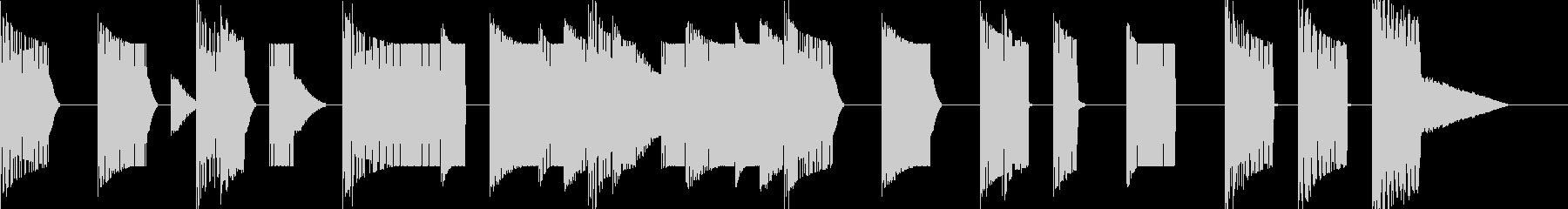 チップチューン風ジングルの未再生の波形