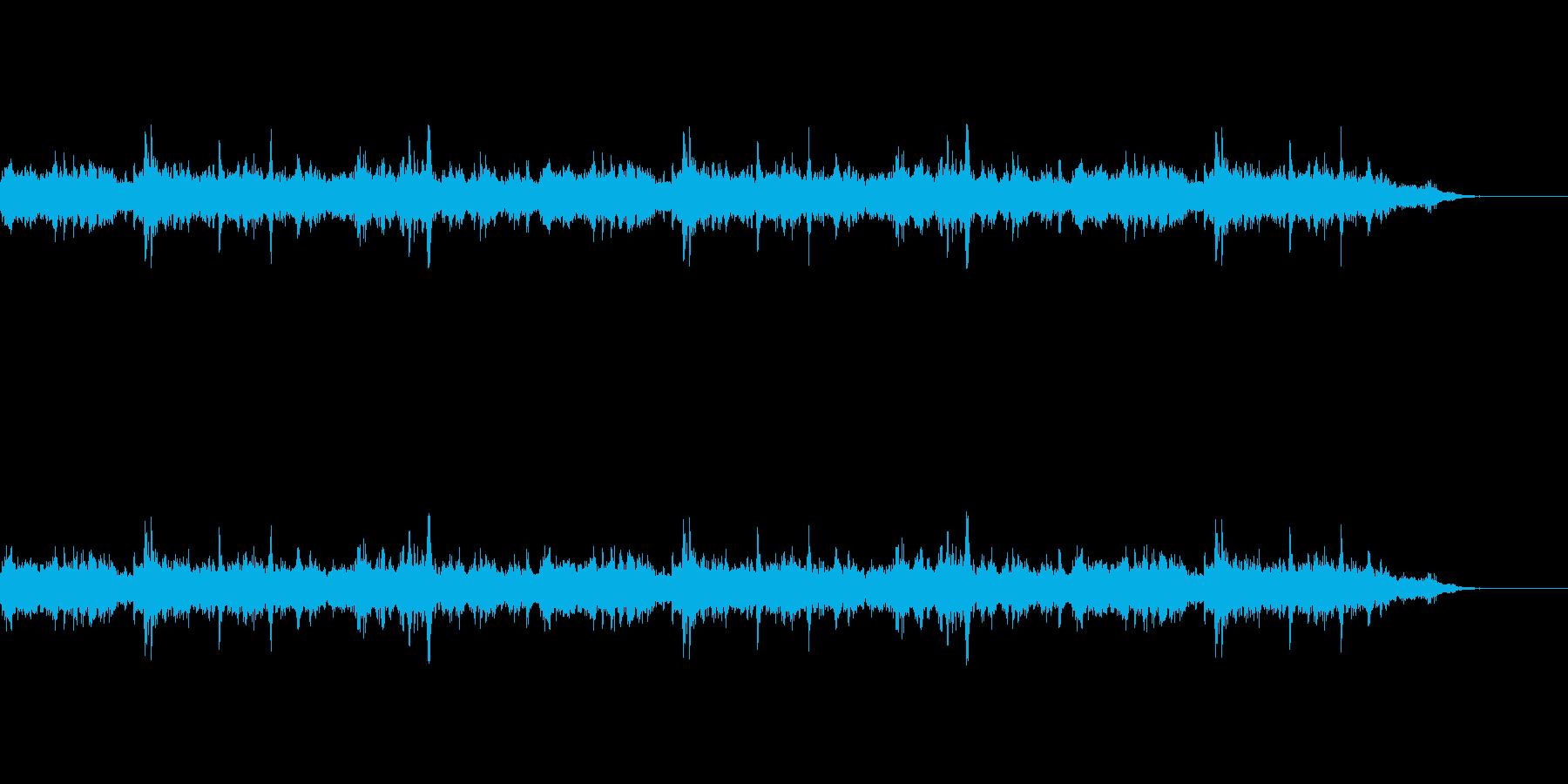 用水路を水が流れる音の再生済みの波形