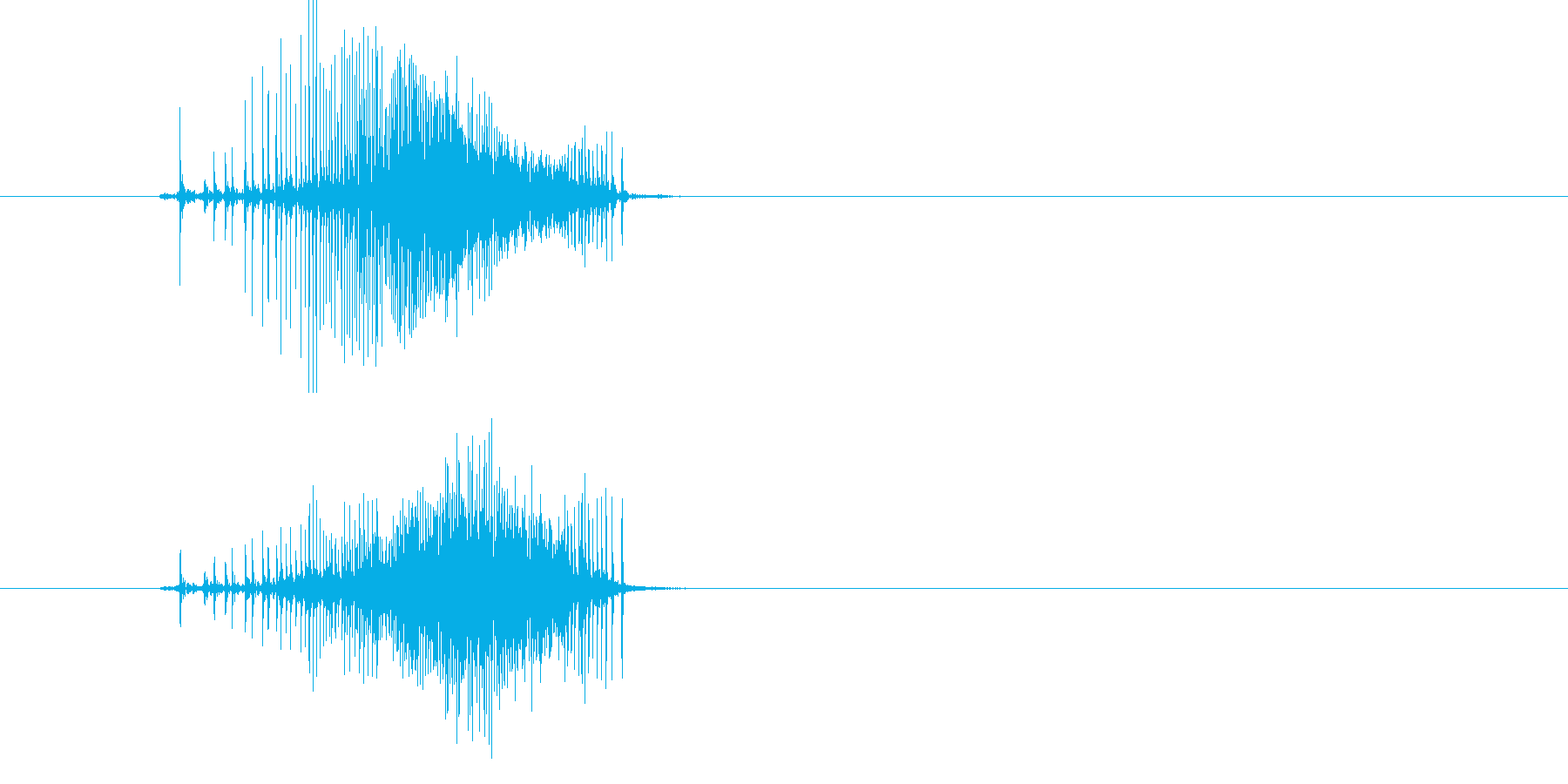 ジー!鈍いチャック音の再生済みの波形
