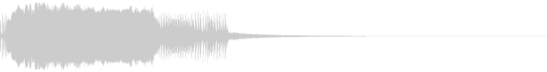 ノイジーな篠笛の未再生の波形