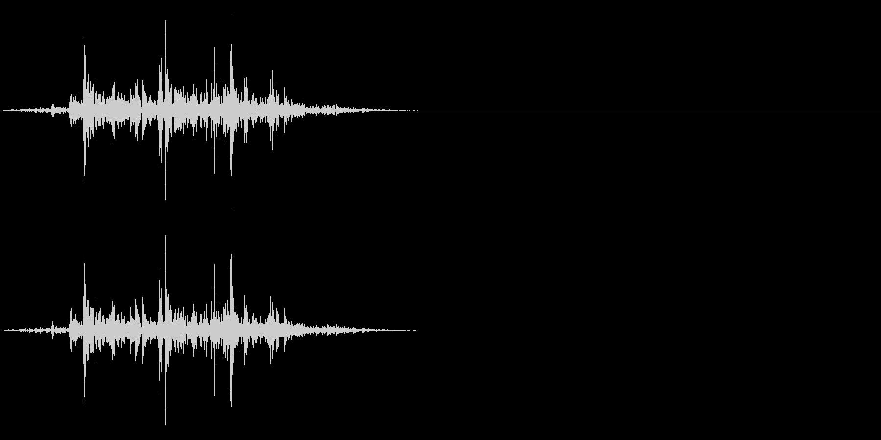 ガラガラ_崩れる音_03の未再生の波形