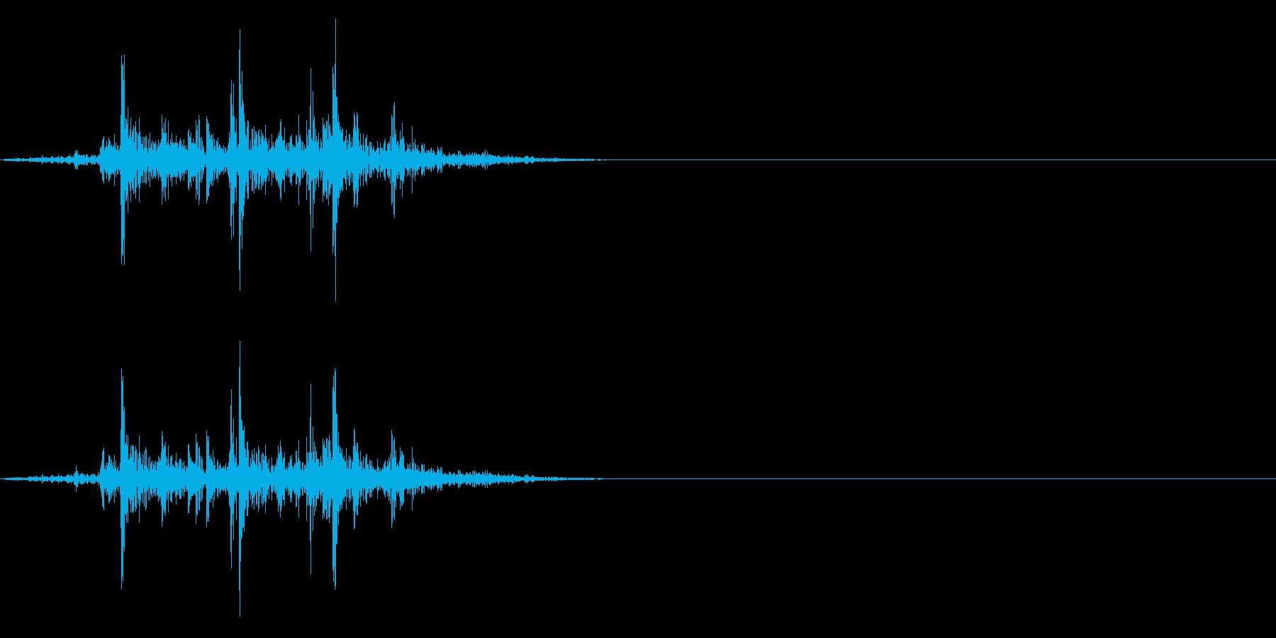 ガラガラ_崩れる音_03の再生済みの波形