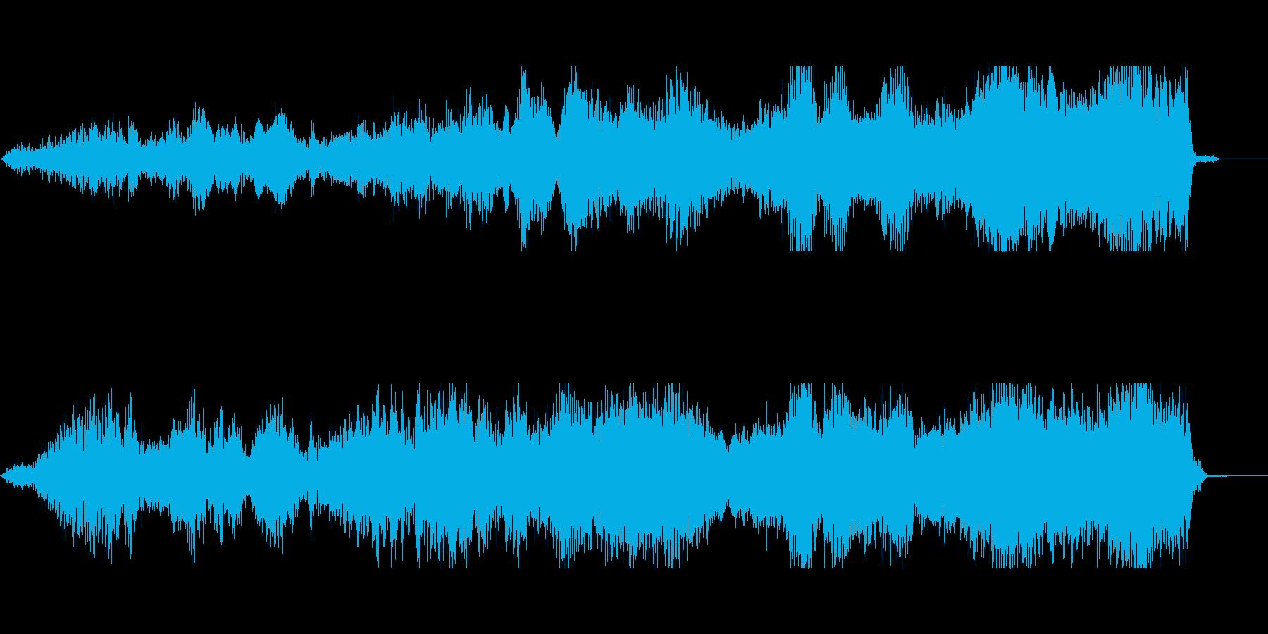 悪霊、音量たちの恨みの声1の再生済みの波形