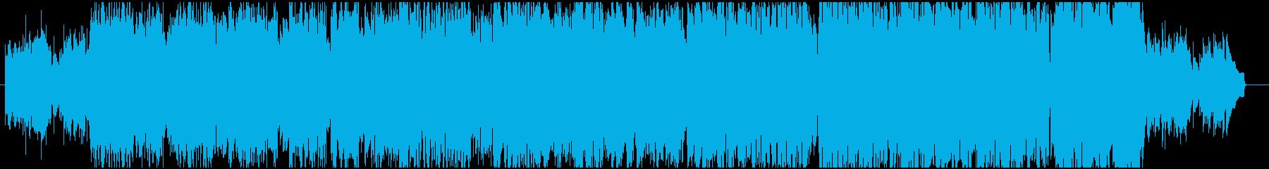 フォークギターのフィンガーピッキング曲の再生済みの波形
