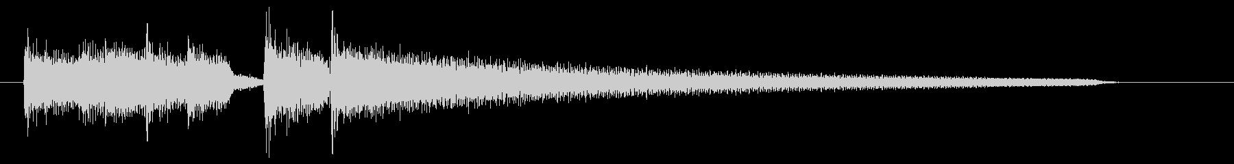 コードカッティングによる場面転換音の未再生の波形