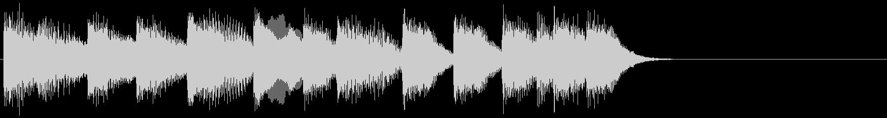 ピアノ ジングル02 明るいの未再生の波形