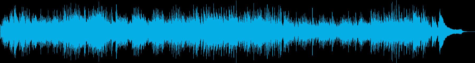 バッハインベンションの最初の曲の再生済みの波形