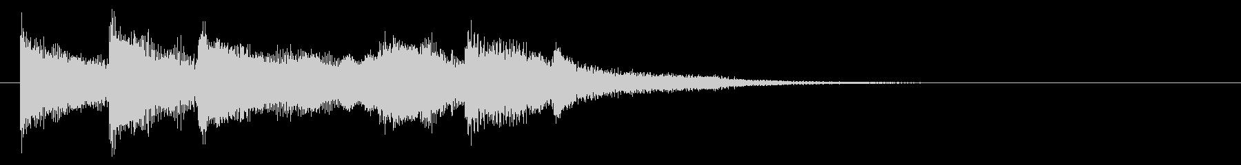 BPM145 ピアノとシンセのジングルの未再生の波形