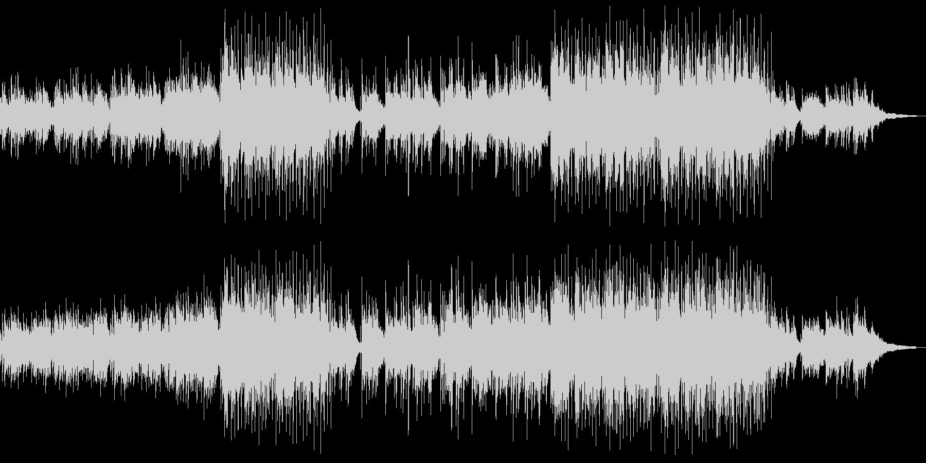 ノスタルジックなアコギアンサンブルの未再生の波形