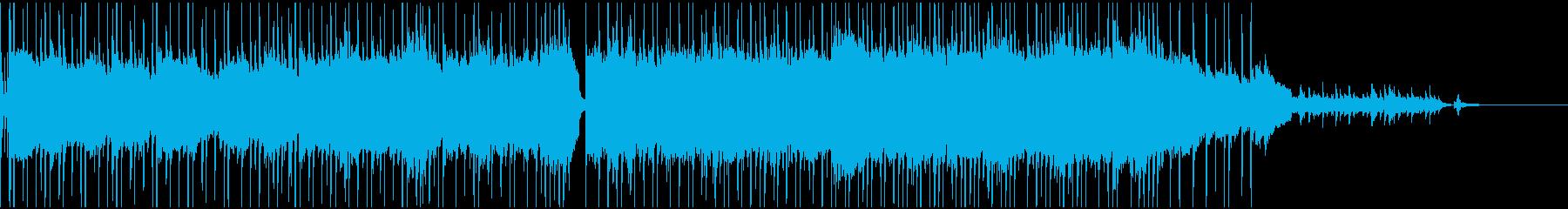 頑張っている雰囲気のゆったりロックBGMの再生済みの波形