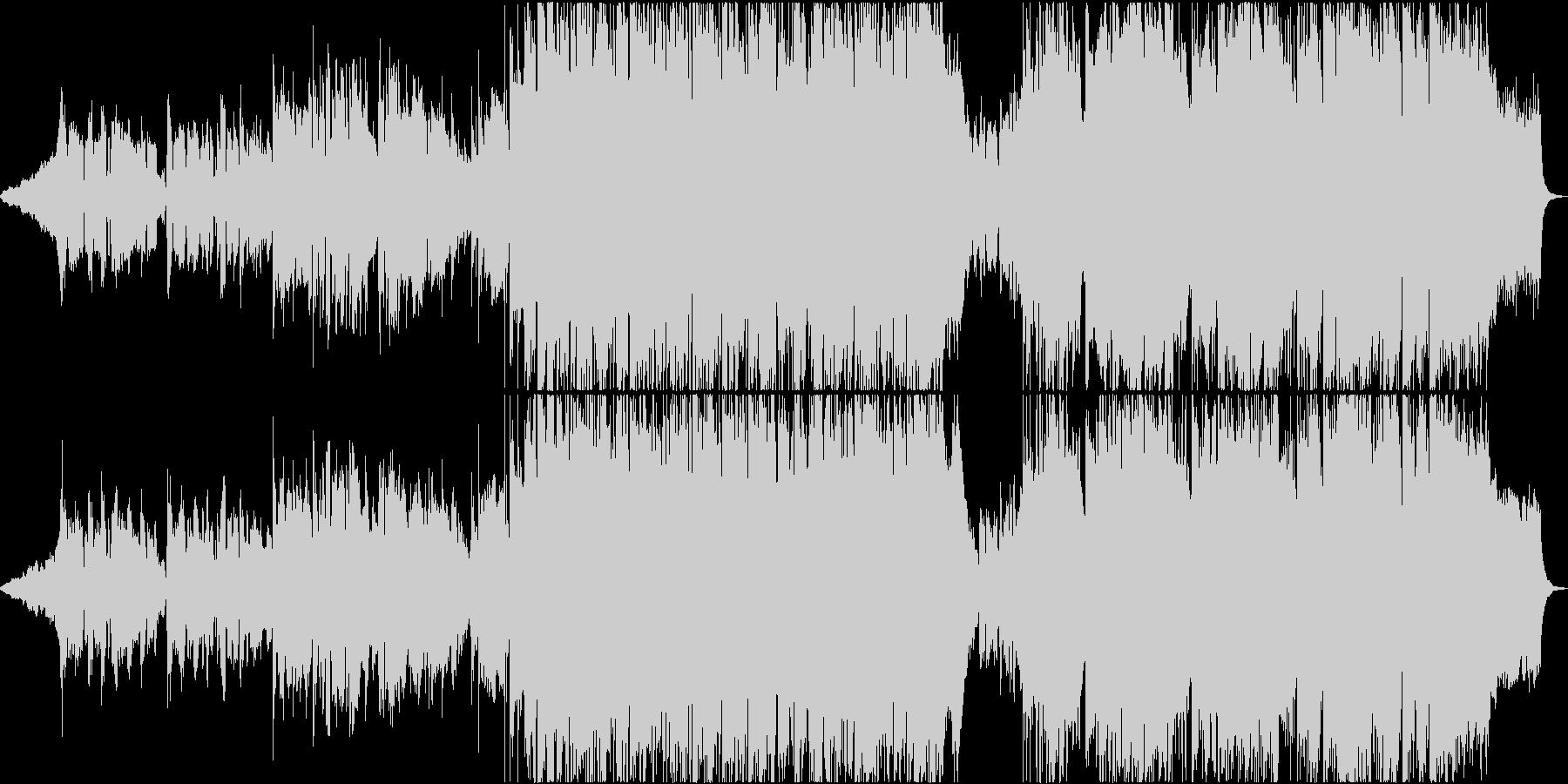 アニメ風バラードエンディング曲の未再生の波形