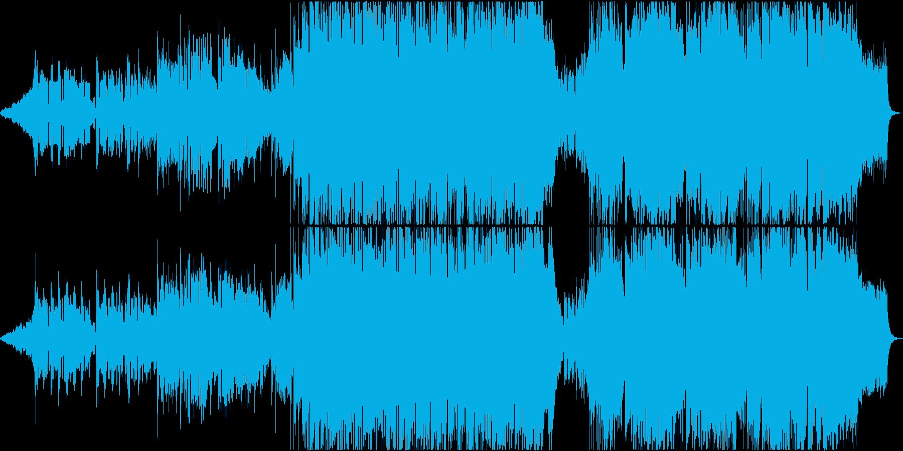 アニメ風バラードエンディング曲の再生済みの波形