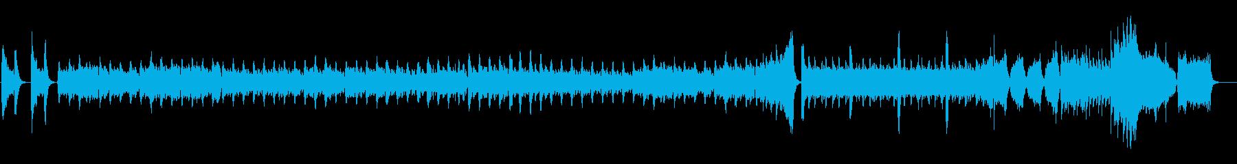 不穏なサスペンスのBGMの再生済みの波形