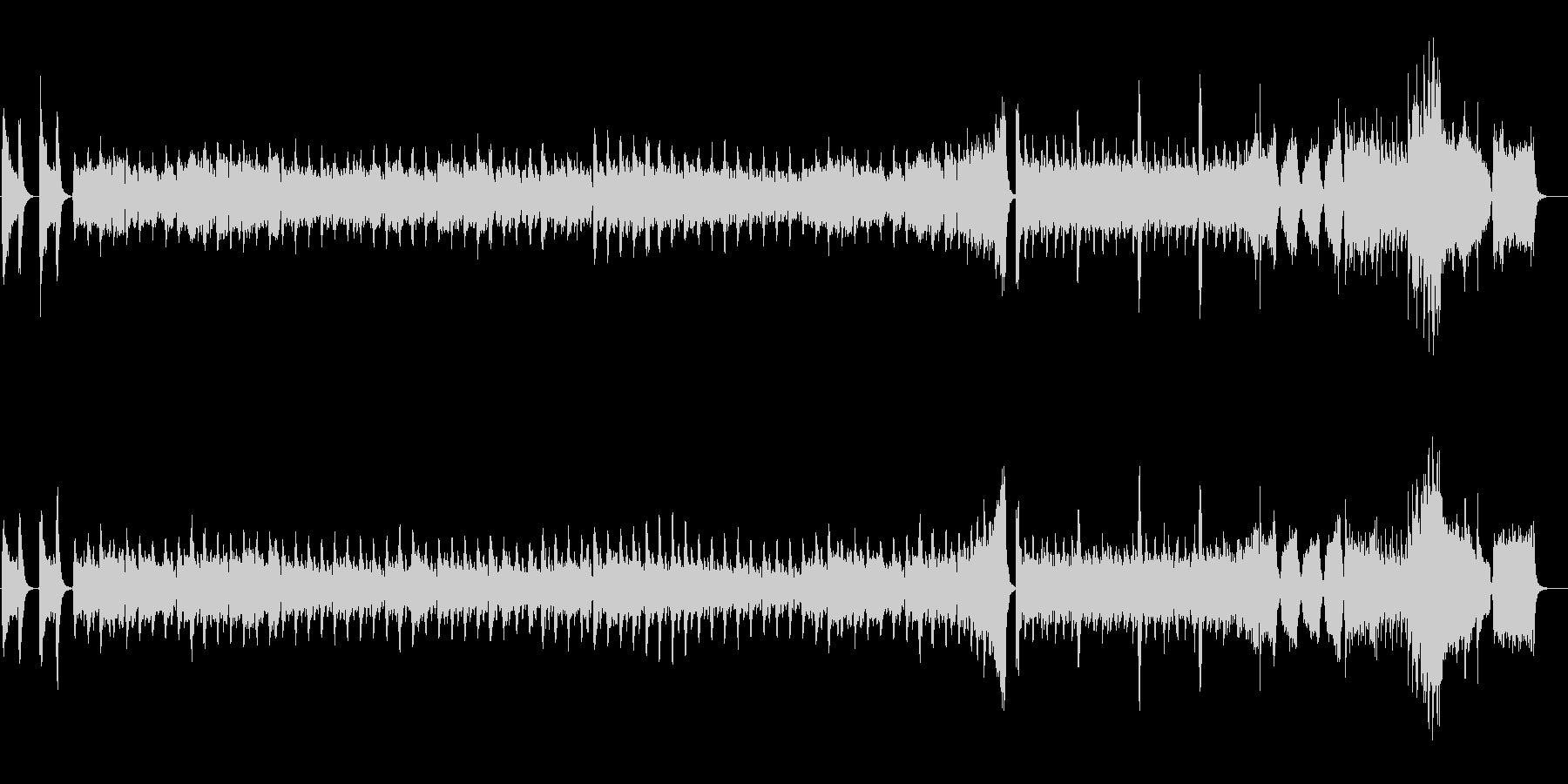 不穏なサスペンスのBGMの未再生の波形