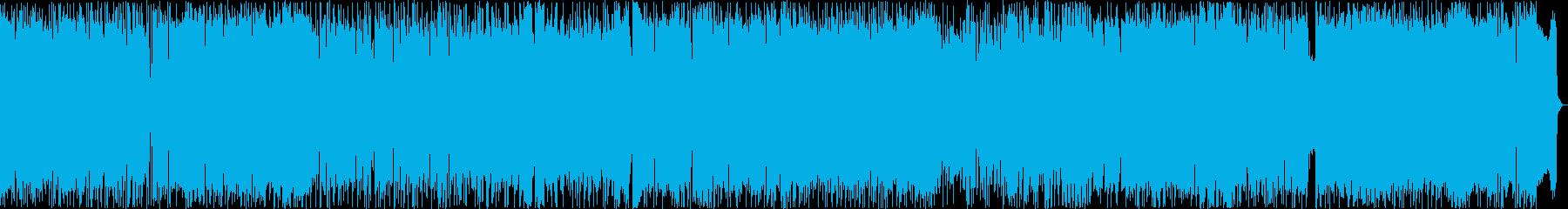 バトルシーンなどに使えるロックの再生済みの波形