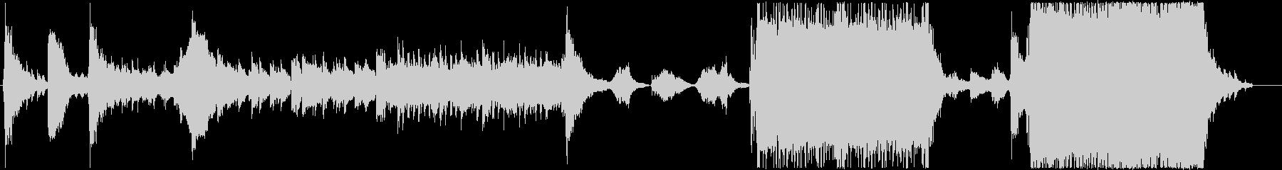 ダークファンタジーの冒頭風BGMの未再生の波形