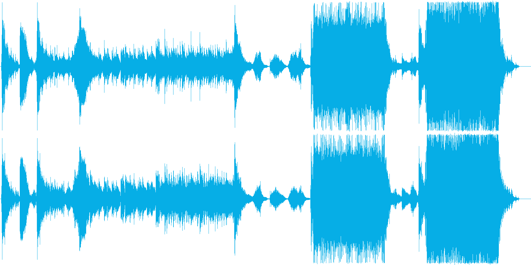 ダークファンタジーの冒頭風BGMの再生済みの波形