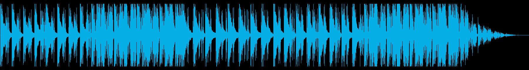 寂しげで深い雰囲気のBGMの再生済みの波形