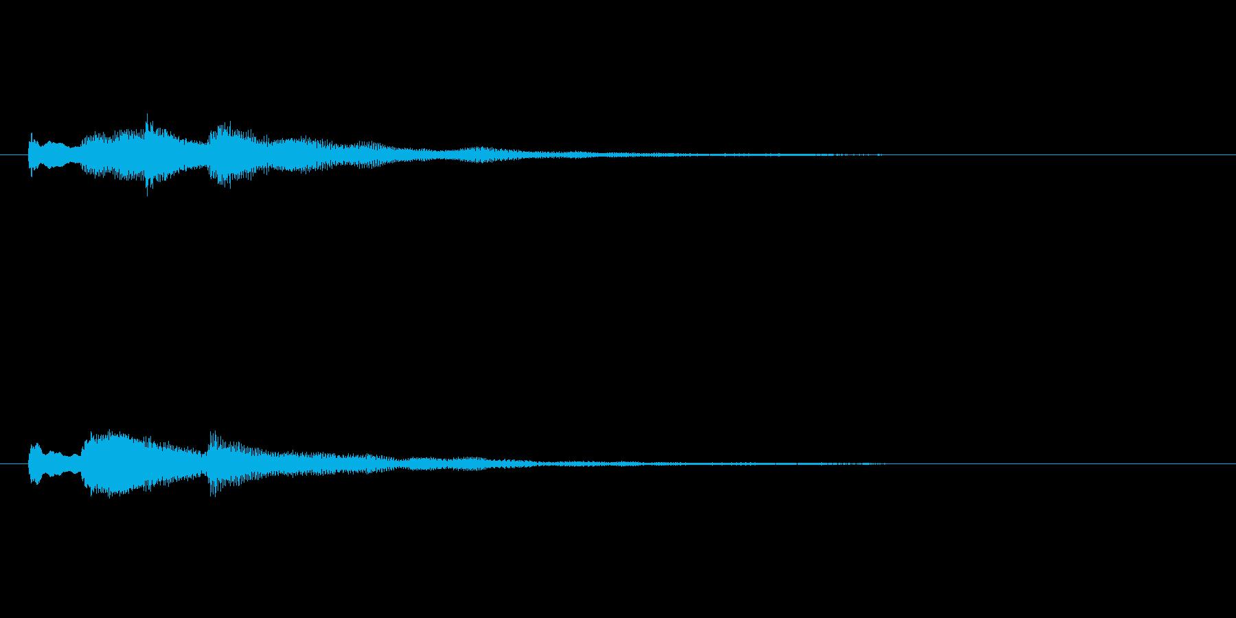 テロテローン テロップ・決定音の再生済みの波形