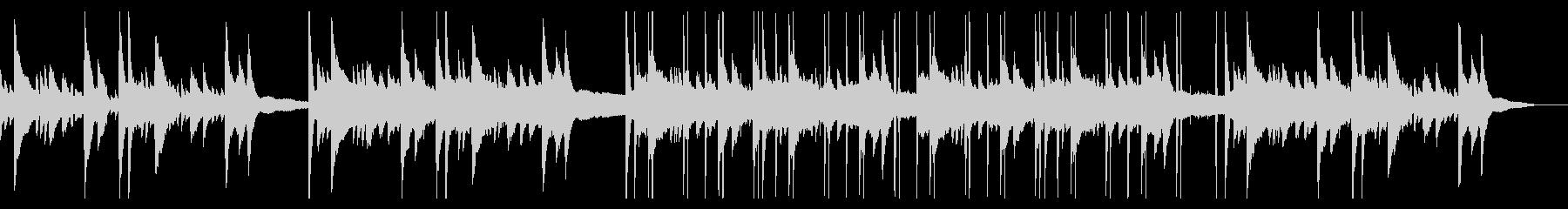 落ち着いたピアノのチル・ヒップホップの未再生の波形