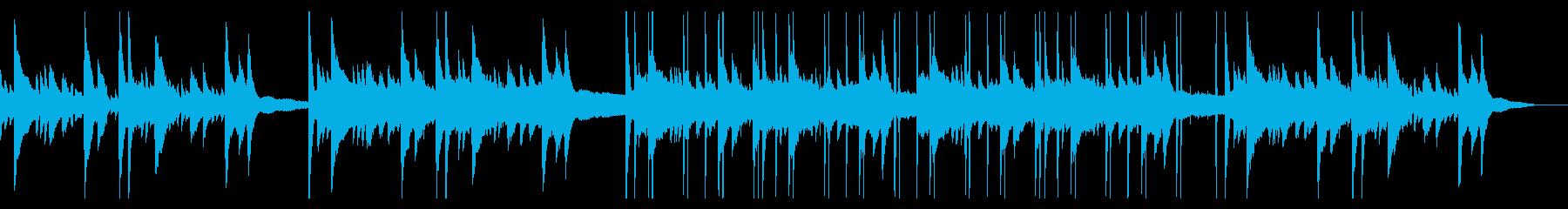 落ち着いたピアノのチル・ヒップホップの再生済みの波形