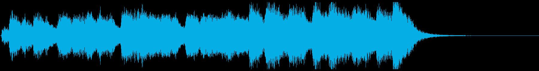 ワールドニュース風フルオケジングル合唱抜の再生済みの波形
