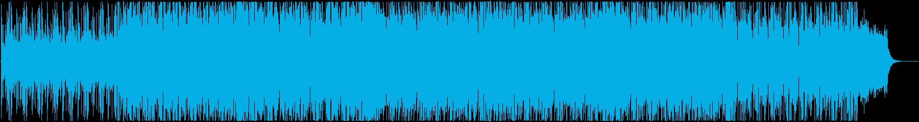 浮遊感あるシンセサイザーのポップな曲の再生済みの波形