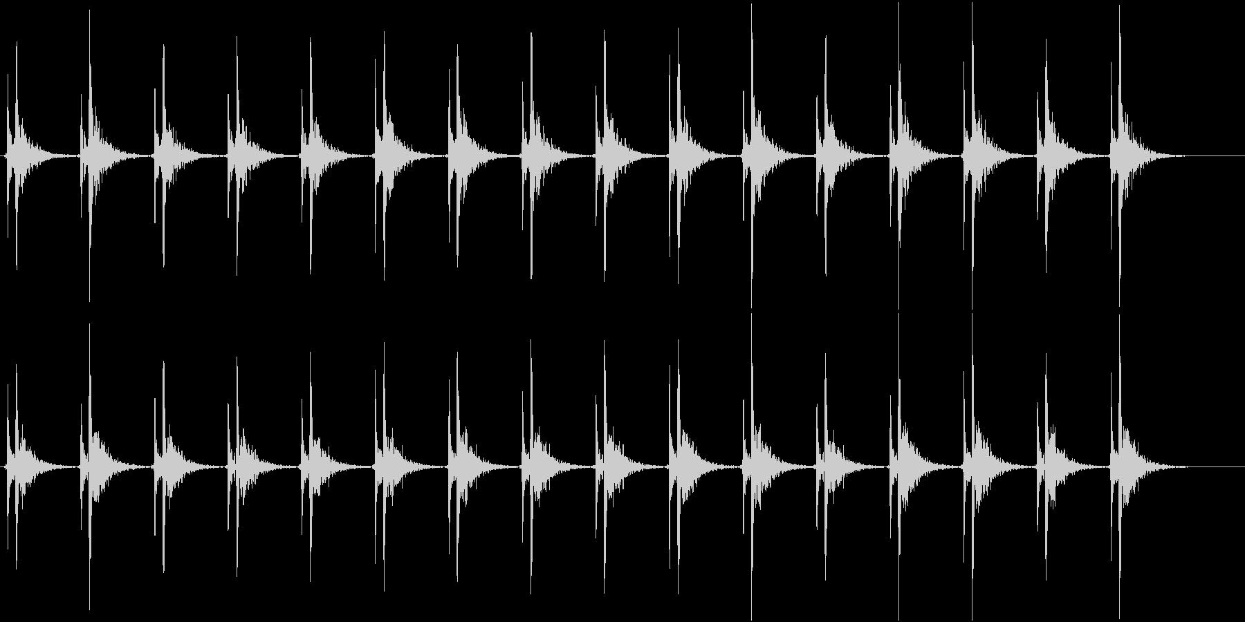 心臓の音(遅い)の未再生の波形
