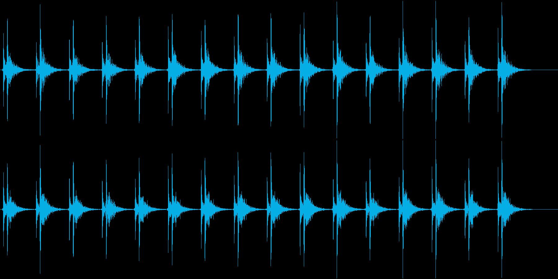 心臓の音(遅い)の再生済みの波形