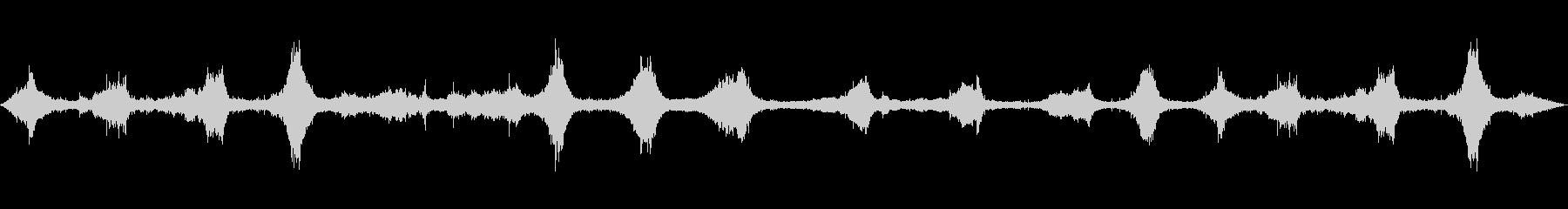 波の音~沖縄のビーチ【生録音】の未再生の波形