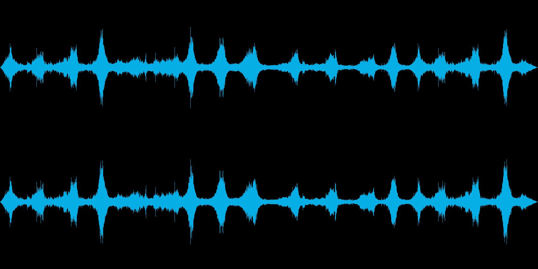 波の音~沖縄のビーチ【生録音】の再生済みの波形