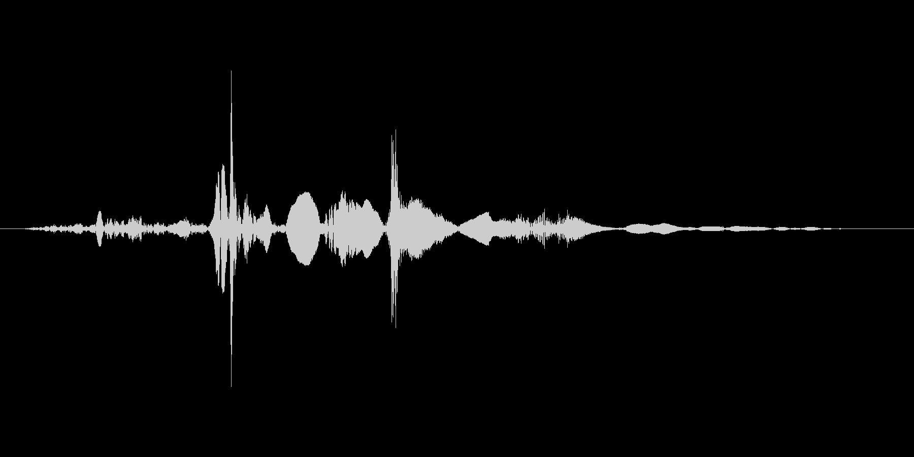 ペラッ(本をめくる音)の未再生の波形