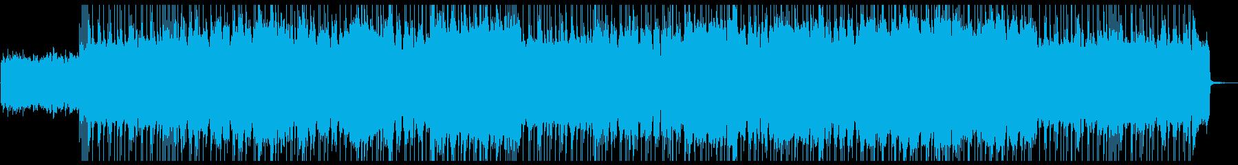 攻撃的なギターのHR/HMの再生済みの波形
